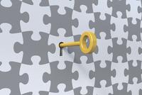 パズルと鍵 CG 11019034318| 写真素材・ストックフォト・画像・イラスト素材|アマナイメージズ