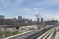 豊洲新市場の建設風景 11019034485| 写真素材・ストックフォト・画像・イラスト素材|アマナイメージズ
