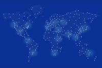 点と線で描かれた世界地図 CG