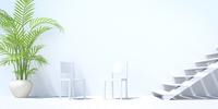 階段のある白い部屋 CG 11019035344| 写真素材・ストックフォト・画像・イラスト素材|アマナイメージズ