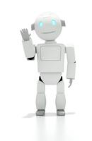 手を振るロボット CG 11019036088| 写真素材・ストックフォト・画像・イラスト素材|アマナイメージズ