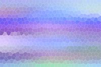 水色と紫色のモザイク模様