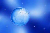 地球と星空 CG