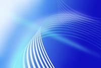 青色の曲線 CG