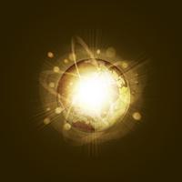 地球と光 CG