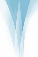 重なり合う青色と白色の曲線 CG