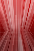 屈折する線と格子模様 CG