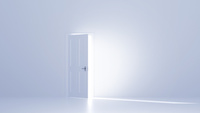 開いた扉と白い空間 CG 11019037154| 写真素材・ストックフォト・画像・イラスト素材|アマナイメージズ