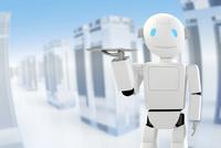 トレイを持つロボット CG