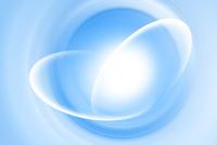 重なる楕円形の線と青色の渦 CG