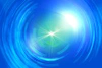 円形の線と放射状の光 CG
