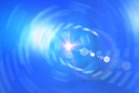 放射状の光と反射 CG