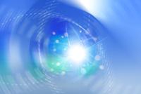 交差する曲線と光の放射 CG