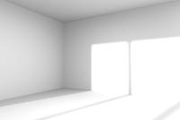 光が差し込む白い部屋 CG 11019037281| 写真素材・ストックフォト・画像・イラスト素材|アマナイメージズ