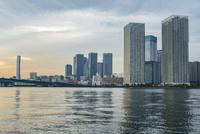 晴海の高層ビル群と運河