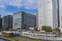 豊洲駅周辺のビル群と街並み