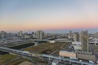 東京オリンピック施設建設予定地と豊洲、有明周辺のビル群