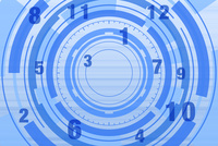 円形の模様と数字 CG