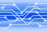 交差する線と光 CG