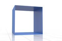 立体的な四角形のフレーム CG