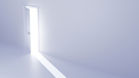 光が差し込む扉 CG 11019037490| 写真素材・ストックフォト・画像・イラスト素材|アマナイメージズ