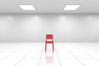 白い空間に赤い椅子 CG 11019037496| 写真素材・ストックフォト・画像・イラスト素材|アマナイメージズ