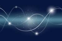 交差する曲線と光 CG