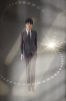ビジネスマンと光 CG