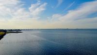木更津の海と東京湾アクアライン