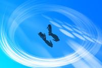 2人とビジネスマンとリング状の光 CG 11019038098| 写真素材・ストックフォト・画像・イラスト素材|アマナイメージズ