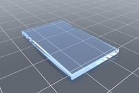 透明の四角形と格子模様 CG