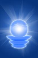 球体と光の放射 CG