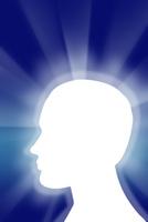 横顔のシルエットと光 CG 11019038514| 写真素材・ストックフォト・画像・イラスト素材|アマナイメージズ