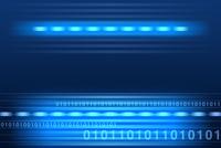 光る線と二進法 CG
