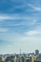 東京スカイツリーと青空 11019038659  写真素材・ストックフォト・画像・イラスト素材 アマナイメージズ