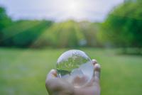 ガラスの地球儀と光 合成