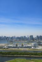豊洲市場と晴海方面のビル群 11019038872| 写真素材・ストックフォト・画像・イラスト素材|アマナイメージズ
