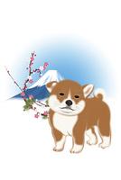 子犬と梅と富士山 イラスト 11019038912| 写真素材・ストックフォト・画像・イラスト素材|アマナイメージズ