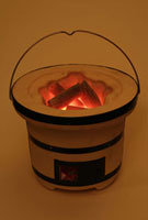 七輪と炭火