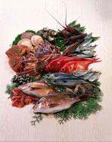 魚介集合 11020002875| 写真素材・ストックフォト・画像・イラスト素材|アマナイメージズ