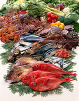 魚介集合 11020002876| 写真素材・ストックフォト・画像・イラスト素材|アマナイメージズ