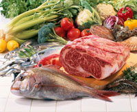 魚介と牛肉