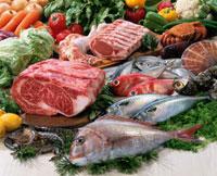 肉と魚介 11020002886| 写真素材・ストックフォト・画像・イラスト素材|アマナイメージズ