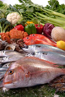 魚介集合 11020002973| 写真素材・ストックフォト・画像・イラスト素材|アマナイメージズ