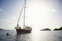 Couple on sailboat