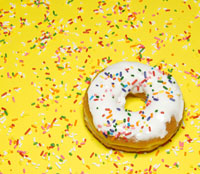 Single Doughnut with Sprinkles