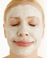 Mid-Adult Woman with Face Mask