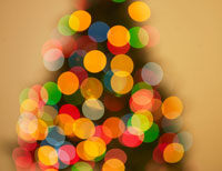 Blurred View of Christmas Tree