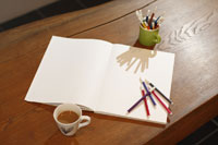 スケッチブックとペン