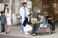 退院していく患者